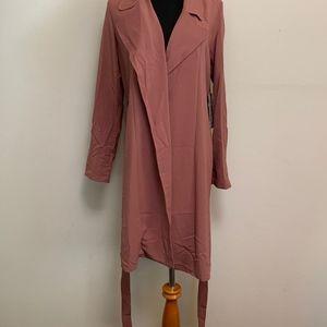 Rose Pink, Light Throw, Collared Jacket